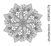 round element for coloring book....   Shutterstock .eps vector #428918176