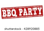 Barbecue Party Grunge Rubber...