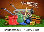 colorful gardening background... | Shutterstock .eps vector #428926405
