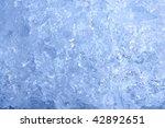 full frame ice background ... | Shutterstock . vector #42892651