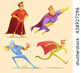 superhero cartoon icons set... | Shutterstock .eps vector #428927296