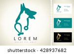 dog  cat and stethoscope logo. | Shutterstock .eps vector #428937682