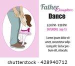 dad daughter dance. toddler... | Shutterstock .eps vector #428940712