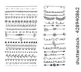 hand drawn set of line frames.... | Shutterstock .eps vector #428940862
