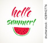 hello summer lettering card.... | Shutterstock .eps vector #428942776