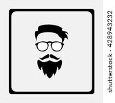 dude  bearded man illustration | Shutterstock .eps vector #428943232