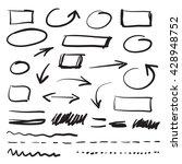 vector marker doodle design... | Shutterstock .eps vector #428948752