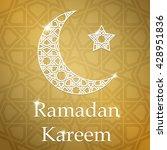 ramadan kareem greeting card...   Shutterstock .eps vector #428951836