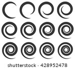 set of spirals with different... | Shutterstock .eps vector #428952478