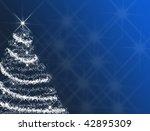 Blue Christmas tree - stock photo