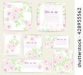 set beautiful cards and... | Shutterstock .eps vector #428955562