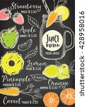 juice menu placemat drink... | Shutterstock .eps vector #428958016
