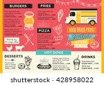 food truck festival menu food... | Shutterstock .eps vector #428958022