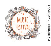music festival. colorful... | Shutterstock .eps vector #428959975