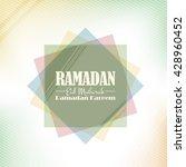 flat style ramadan background ... | Shutterstock .eps vector #428960452
