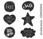 special offer  hot  free  big... | Shutterstock .eps vector #428965045