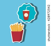 fast food offer design  | Shutterstock .eps vector #428972542