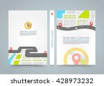 paved path on the road. banner... | Shutterstock .eps vector #428973232