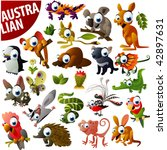 australian animals big vector... | Shutterstock .eps vector #42897631