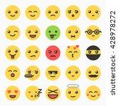 emoticons set  yellow website... | Shutterstock .eps vector #428978272