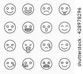 emoticons set  outline website... | Shutterstock .eps vector #428978296