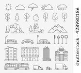 urban line icons. urban... | Shutterstock .eps vector #428980186