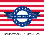 stylish american independence... | Shutterstock .eps vector #428983126