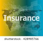 the word insurance on digital... | Shutterstock .eps vector #428985766