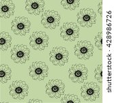 seamless pattern with flowers.... | Shutterstock .eps vector #428986726