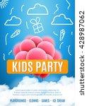 kids party invitation design... | Shutterstock .eps vector #428987062