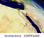 egypt with surrounding region... | Shutterstock . vector #428991685