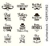 happy father's day design... | Shutterstock .eps vector #428991982