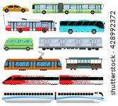 city transport set and public... | Shutterstock .eps vector #428992372