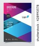 abstract business brochure...   Shutterstock .eps vector #428993578
