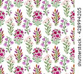 watercolor seamless floral... | Shutterstock . vector #428994205