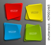 origami paper infographic... | Shutterstock .eps vector #429001465