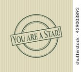 you are a star  rubber grunge... | Shutterstock .eps vector #429003892