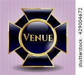 venue golden badge or emblem   Shutterstock .eps vector #429004672