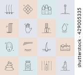 set of icons on the theme of... | Shutterstock .eps vector #429005335