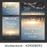 wedding invitation cards... | Shutterstock .eps vector #429008092