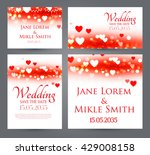 wedding invitation cards... | Shutterstock .eps vector #429008158