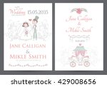 vintage wedding invitation... | Shutterstock .eps vector #429008656