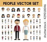 diversity community people flat ... | Shutterstock .eps vector #429018046
