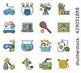 icon set hobby vector | Shutterstock .eps vector #429051898