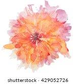 abstract watercolor flower.... | Shutterstock . vector #429052726
