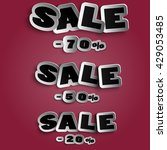 big sale banner. sale and... | Shutterstock .eps vector #429053485