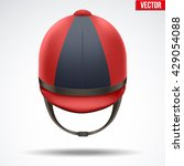 classic red and black jockey... | Shutterstock .eps vector #429054088
