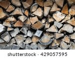 chopped wood for fire place ... | Shutterstock . vector #429057595