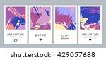 set of creative vector... | Shutterstock .eps vector #429057688