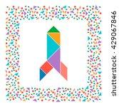tangram rocket  abstract...   Shutterstock .eps vector #429067846